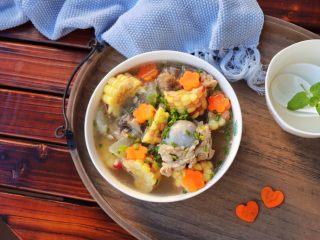 筒骨玉米冬瓜汤,成品:特别鲜美