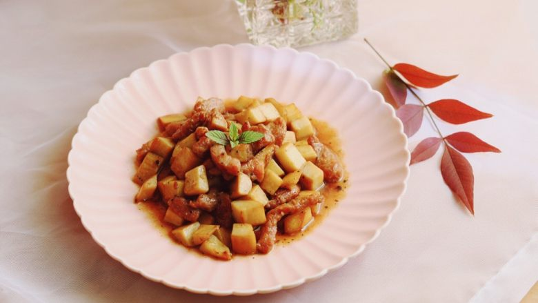 简单快手—杏鲍菇牛柳,完成。