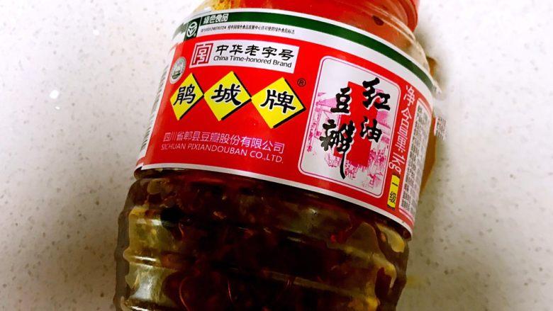 红油豆瓣烧豆腐,红油豆瓣