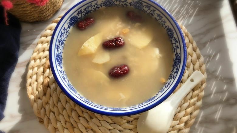健康美味红薯绿豆大枣粥