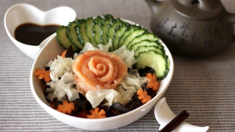 日式三文鱼沙拉