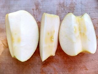#家有烤箱#+玫瑰蛋挞,苹果去核,一半削皮,一半不削皮