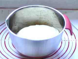 中种老式面包,经过1小时的发酵(夏天),面团发到原来的3倍大