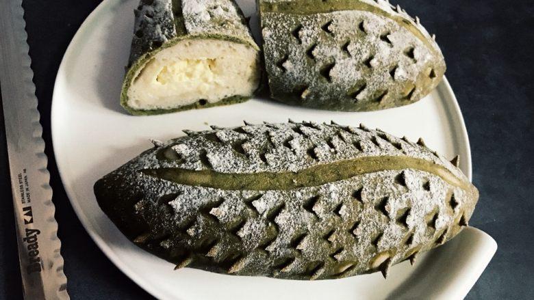 天然酵母榴莲奶酪软欧