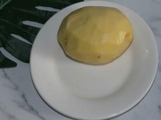 茄丝土豆丝辣酱拌饭,土豆去皮