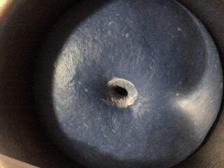 #家有烤箱#星空吐司,发到两倍大,沾面粉戳洞,不回缩不塌陷即可