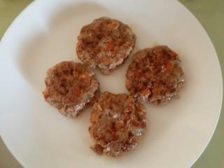 辅食:牛肉豆腐饼