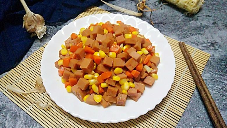 午餐肉炒杂蔬,成品