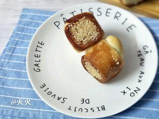 奶油蜂蜜脆底小面包,脆底