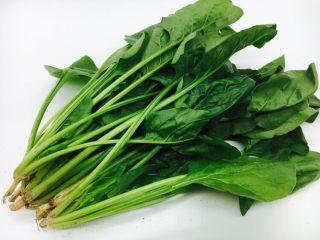 菠菜木耳炒鸡蛋,主要食材:菠菜