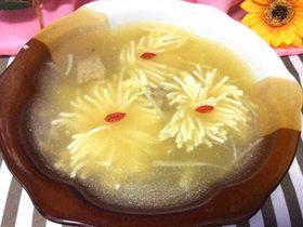菊花豆腐湯