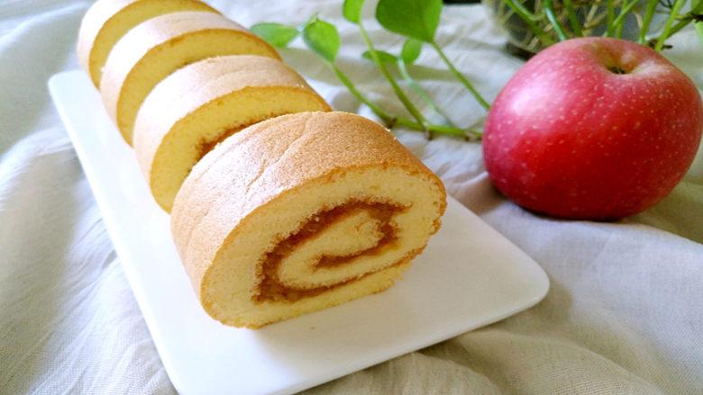 苹果酱蛋糕卷