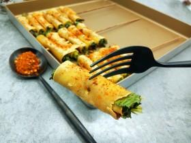 豆皮香菜烤串