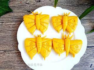 中式面点+蝴蝶馒头,敏茹意作品:蝴蝶馒头 成品图