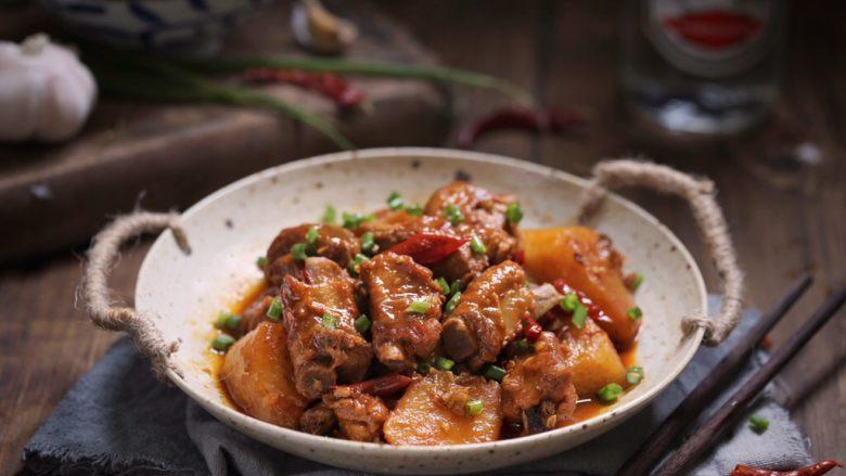 川香土豆炖排骨