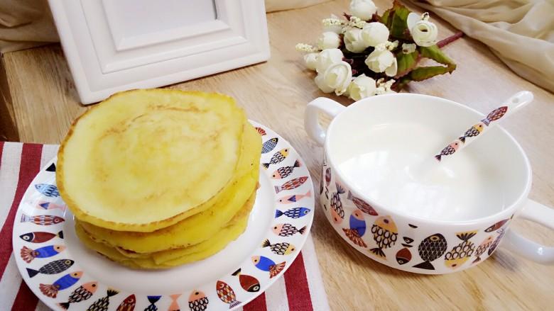 奶香玉米饼,早餐吃点玉米饼,再来杯热牛奶真不错