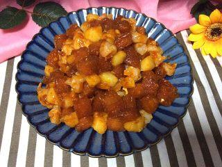 番茄虾仁馒头,装盘