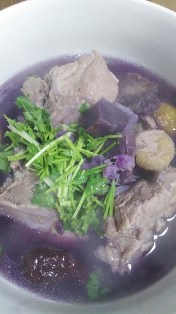 菜谱#紫薯栗子带肉猪脊骨汤#(创建于7/11~2017)