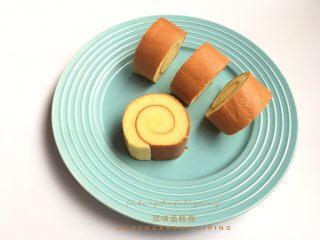 原味蛋糕卷,成品图