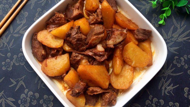 黑酱油+红烧土豆鸭肉