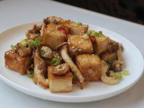 黑酱油+素食烧肉-酱烧豆腐