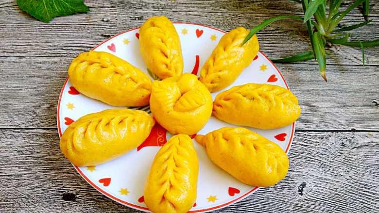 中式面点+南瓜豆沙包
