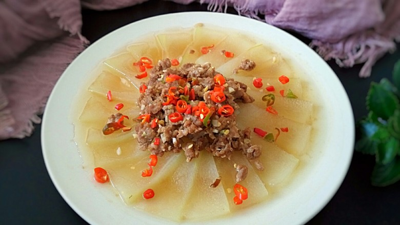 蚝油肉末冬瓜(微辣)