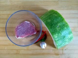蚝油肉末冬瓜(微辣),食材备齐 就是这么简单!