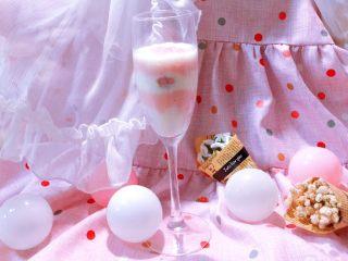 浪漫樱花●椰奶草莓双色双味布丁@@小白快手秒成