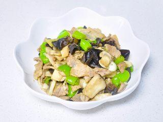 青椒蘑菇炒肉片