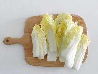 宝宝辅食:蔬菜高汤,娃娃菜去头掰开洗净