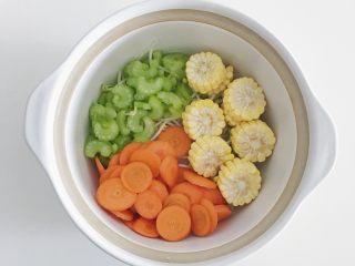 宝宝辅食:蔬菜高汤,码上玉米