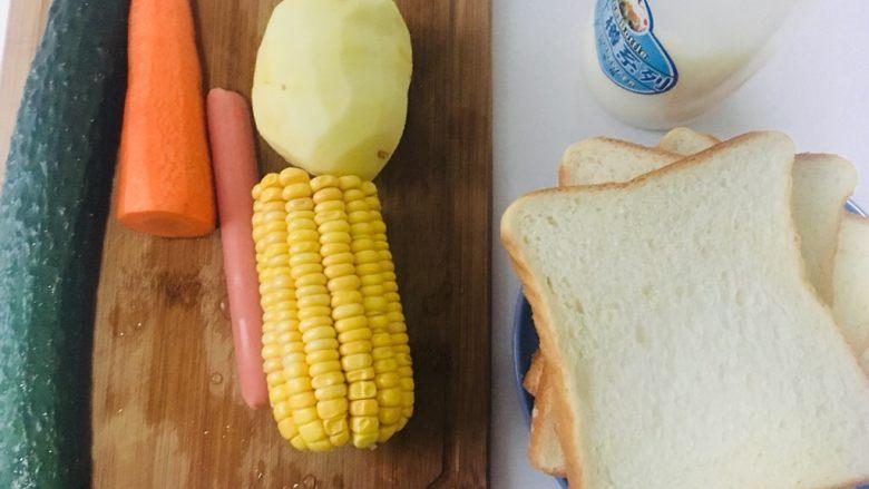 土豆泥三明治,准备材料