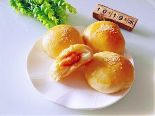 奶香肉松火腿小面包,好吃~