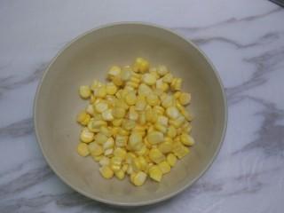 五彩鸡丁,玉米粒