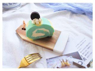 ⭐蓝天白云咸奶油蛋糕卷⭐,咸奶油真的敲好次~❤