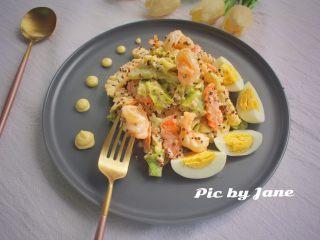 藜麦蔬果虾仁沙拉,成品