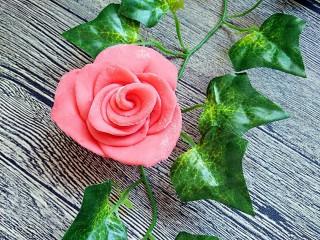 吃掉一朵花+玫瑰花馒头,作品展示