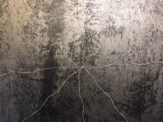 南瓜造型馒头,将四根棉线摆成米子型