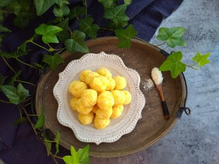 椰蓉土豆球,成品