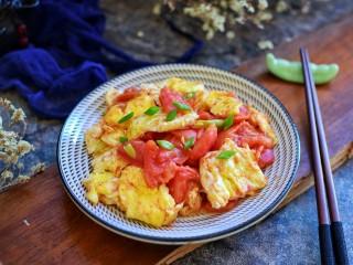 西红柿炒鸡蛋,成品图