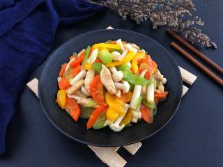 海鲜菇鸡肉炒杂蔬,非常鲜美,清新,胃口瞬间大开!