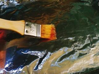 香烤马鲛鱼🐠,在烤盘上刷些油