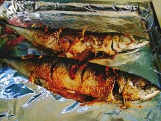 香烤马鲛鱼🐠,把鱼摆好