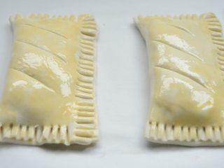 香蕉派,另外一个同样步骤做好,放烤盘上