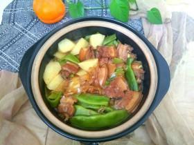 土豆豆角粉条炖五花肉