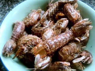 椒盐虾爬子,炸好的虾爬太香了