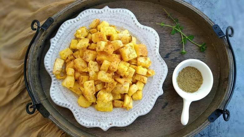 椒盐香炒馒头丁,酥香酥香特别好吃