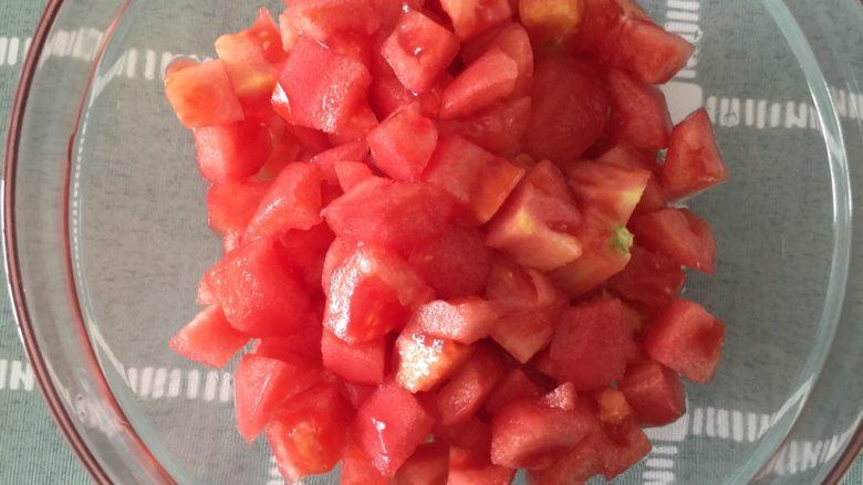 减脂素罗宋汤,番茄切小块