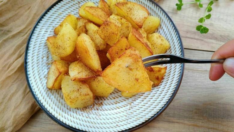 孜然香辣土豆块,来一块吧,特别香